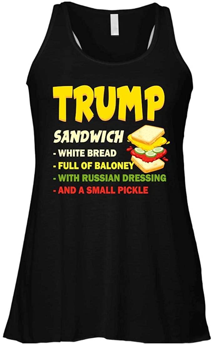 Trump Sandwich Women Flowy Racerback Tank Top Black