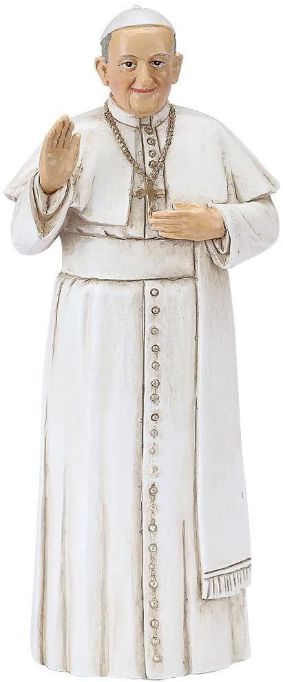 Roman Religious Catholic Church Papacy Small Pope Francis Figurine