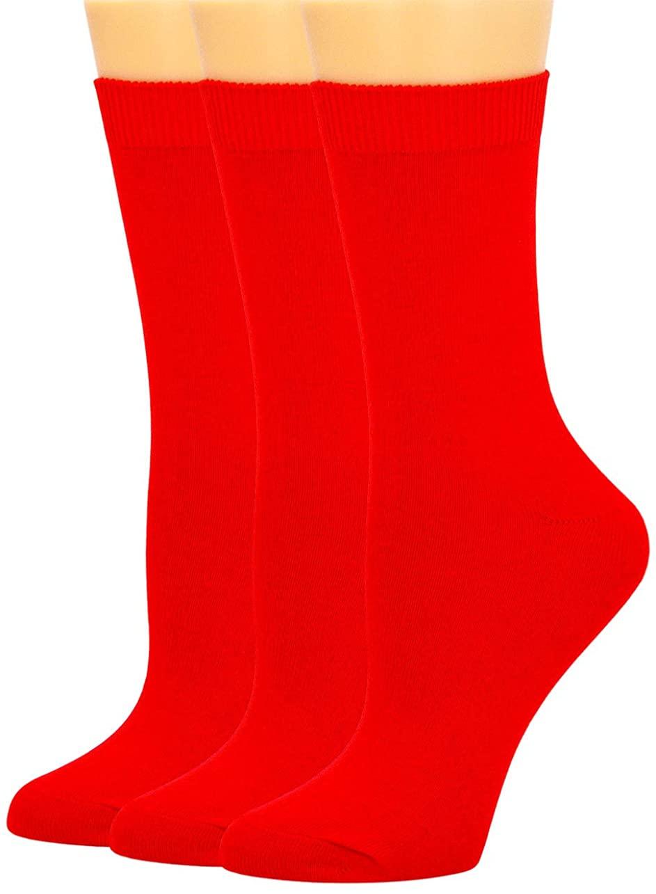 SEMOHOLLI Women Ankle Socks, Womens Crew Socks Casual Cotton Socks Knit Comfy Dress Socks for Women