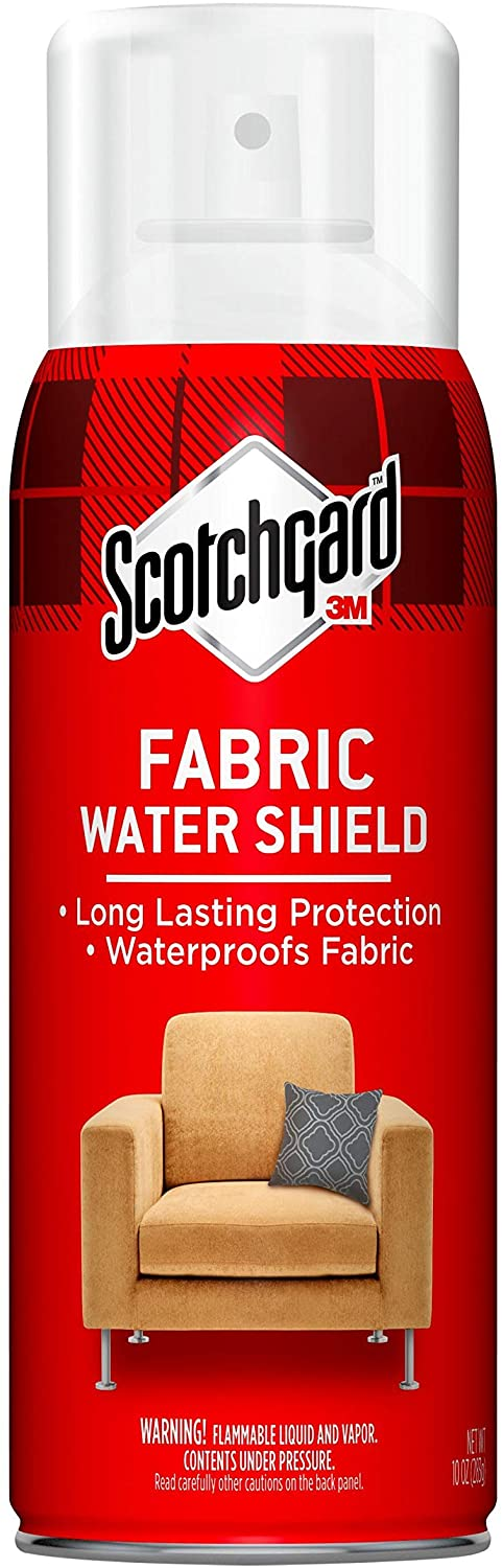 Scotchgard Fabric Water Shield, 60 Ounces (Six, 10 Ounce Cans), Ideal for Couches, Pillows, Furniture, Shoes and More, Long Lasting Protection, Repels Water