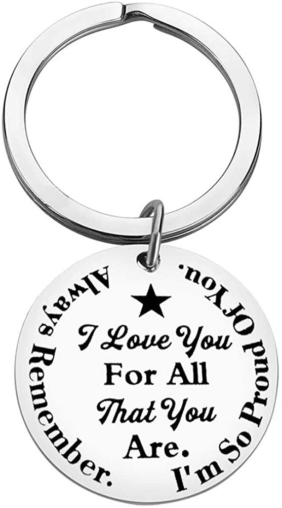 Always Remember I Love You For All That You Are Keychain Inspirational Gift for Boyfriend, Girlfriend,Couples, Family, Best Friend Christmas Gift for Family Valentine's Day Gift for Couple