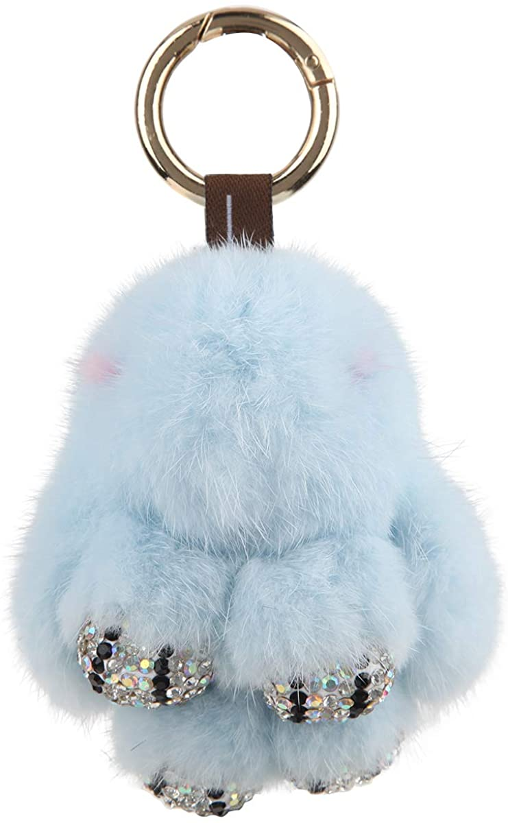 Fawziya Bunny Bling Keychain Small Fur Bunny