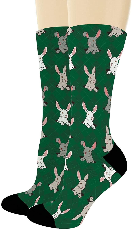Fun Animal Socks Bunny Rabbit Socks Cute Bunny Gifts for Animal Lovers Rabbit Novelty Crew Socks