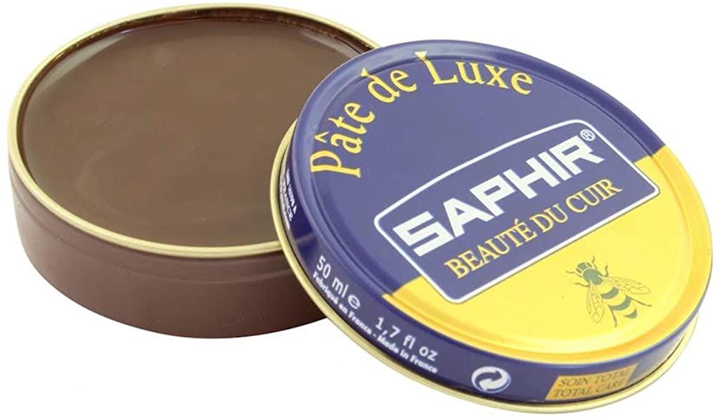 Saphir Beaute Du Cuir Pate De Luxe High Gloss Medium Brown Shoe Polish 50ml