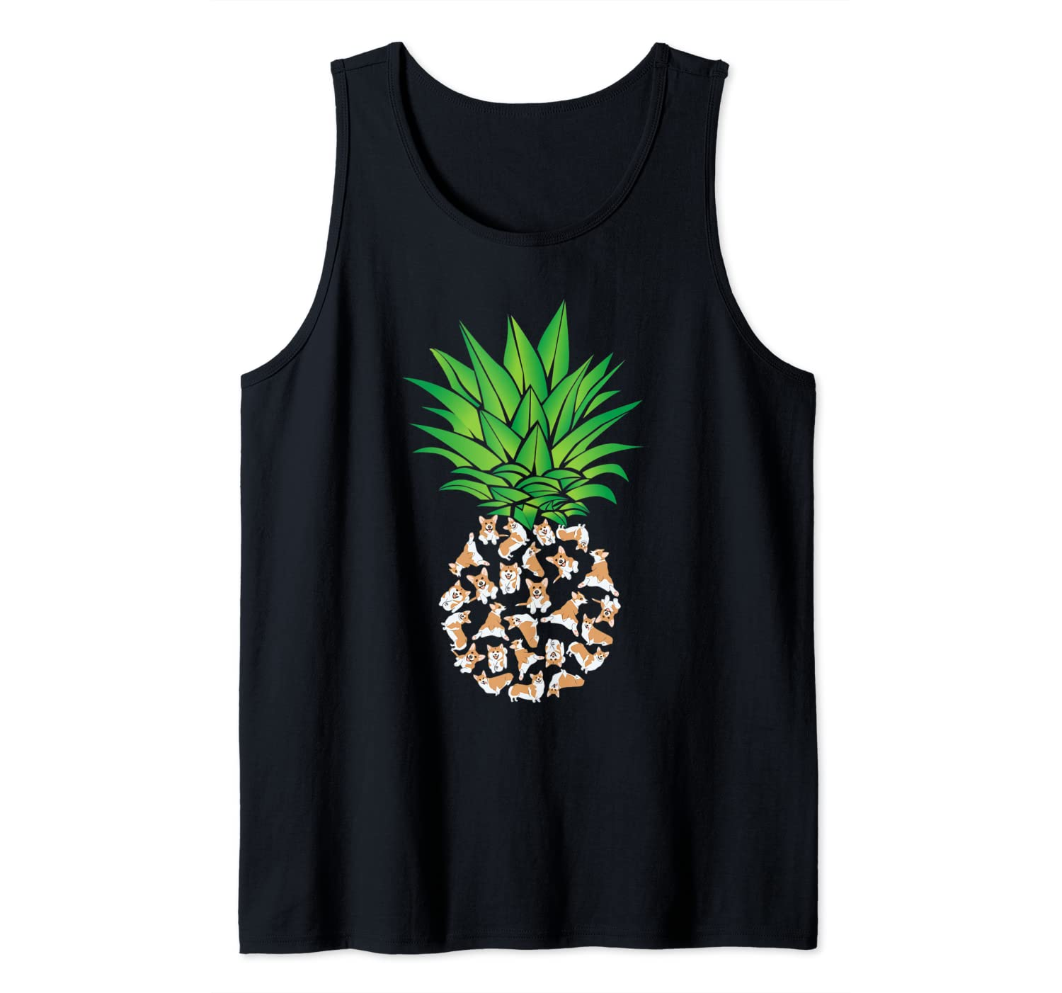 Pembroke Welsh Corgi, Corgi, Pineapple Tank Top