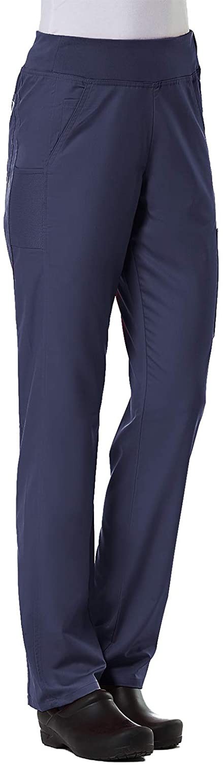 Maevn Women's EON Yoga 7-Pocket Scrub Pant(True Navy, Medium Tall)