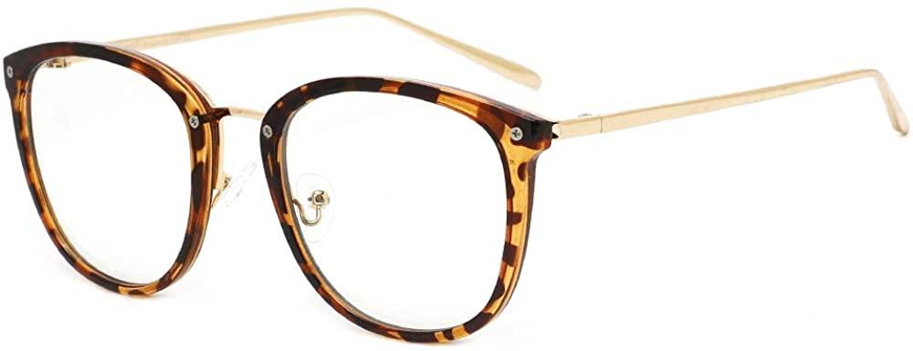 Cyxus Stylish Blue Light Blocking Eyewear for Women TR90 Lightweight Glasses UV Protection Eyeglasses