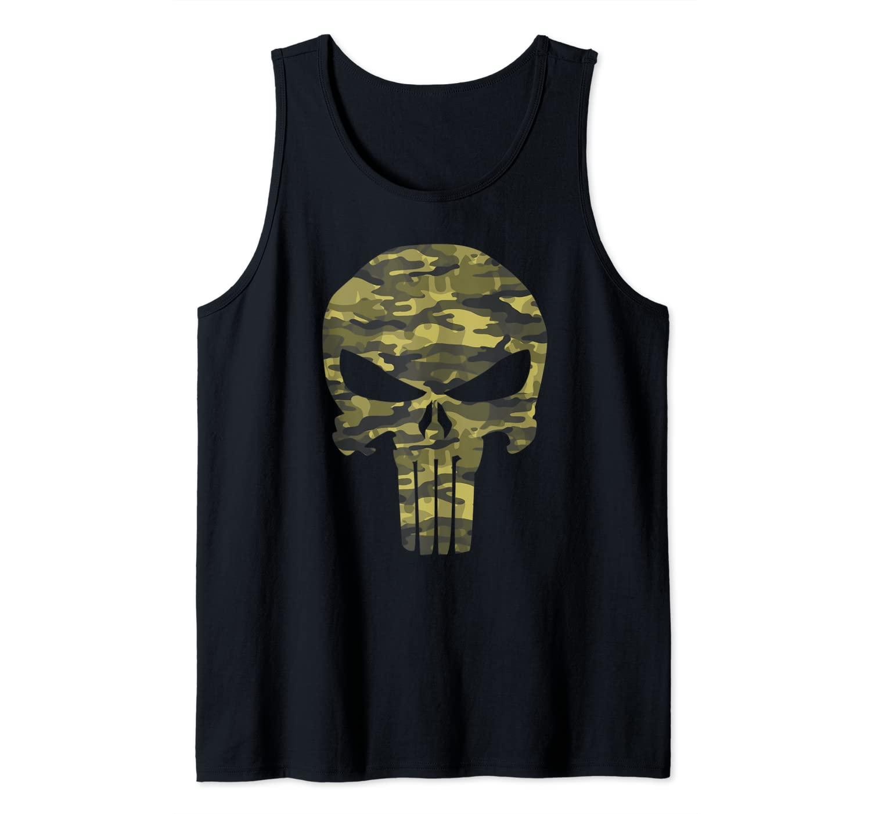 Marvel Punisher Camouflage Skull Logo Tank Top