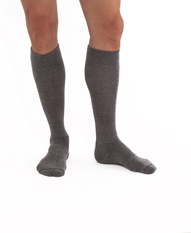 Jobst Unisex Activewear Knee High Socks - 15-20 mmHg Full Steel Gray Large Full 7514713