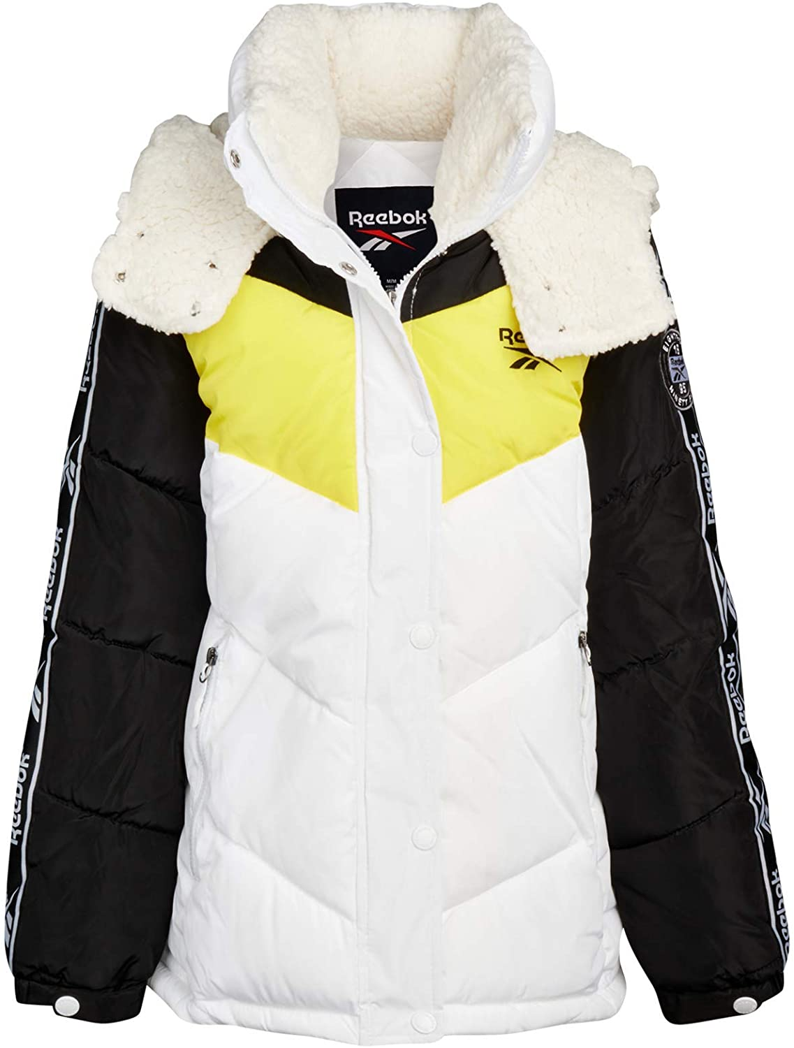Reebok Women's Winter Jacket - Short-Length Bubble Puffer Parka Jacket with Hood