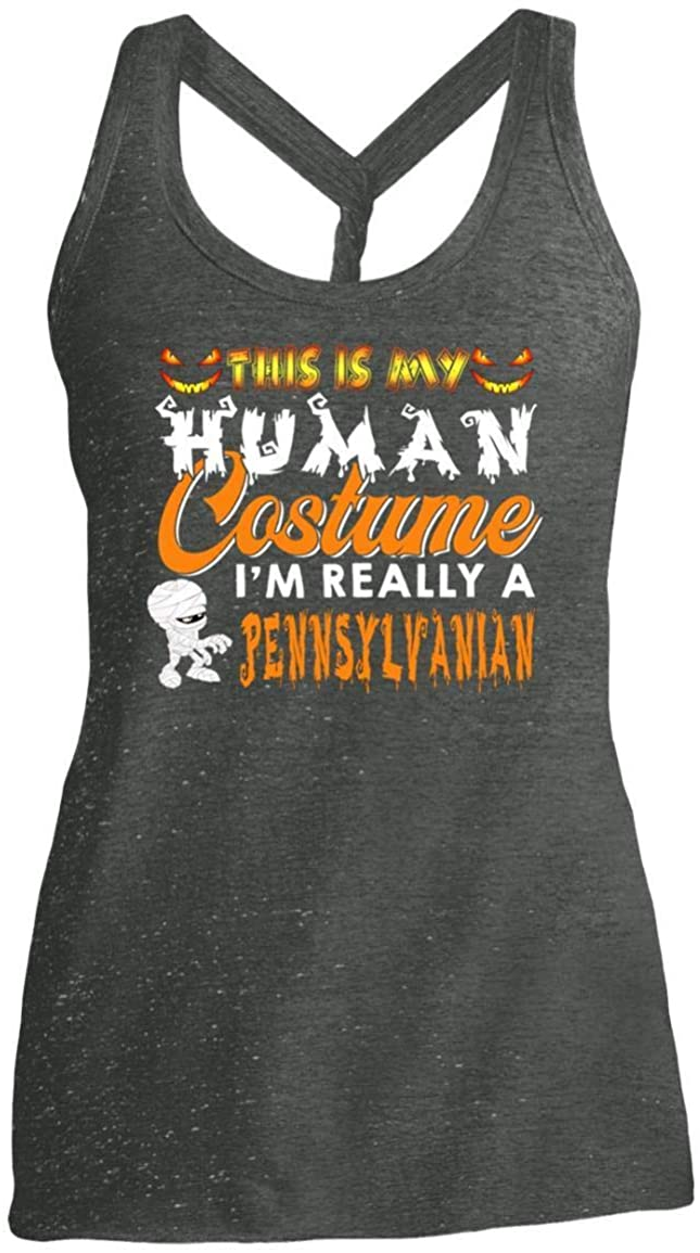 This is My Human Costume I'm Really A Pennsylvanian Halloween Shirt - Tank Top