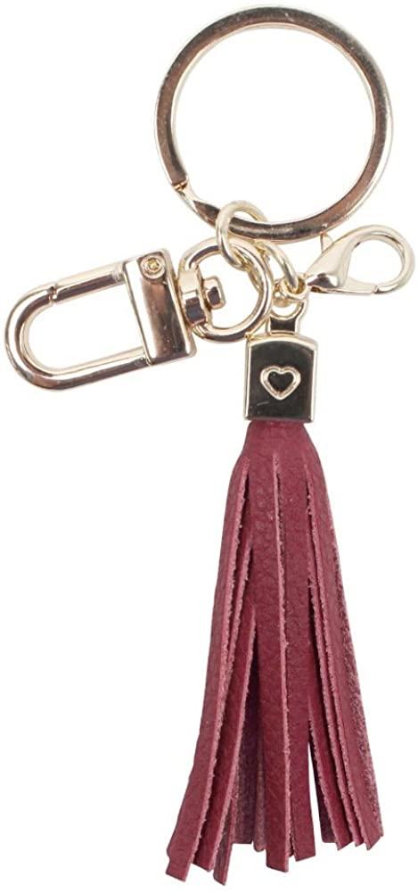 Womens's Leather Tassel Charm Women Handbag Wallet Accessories Key Rings