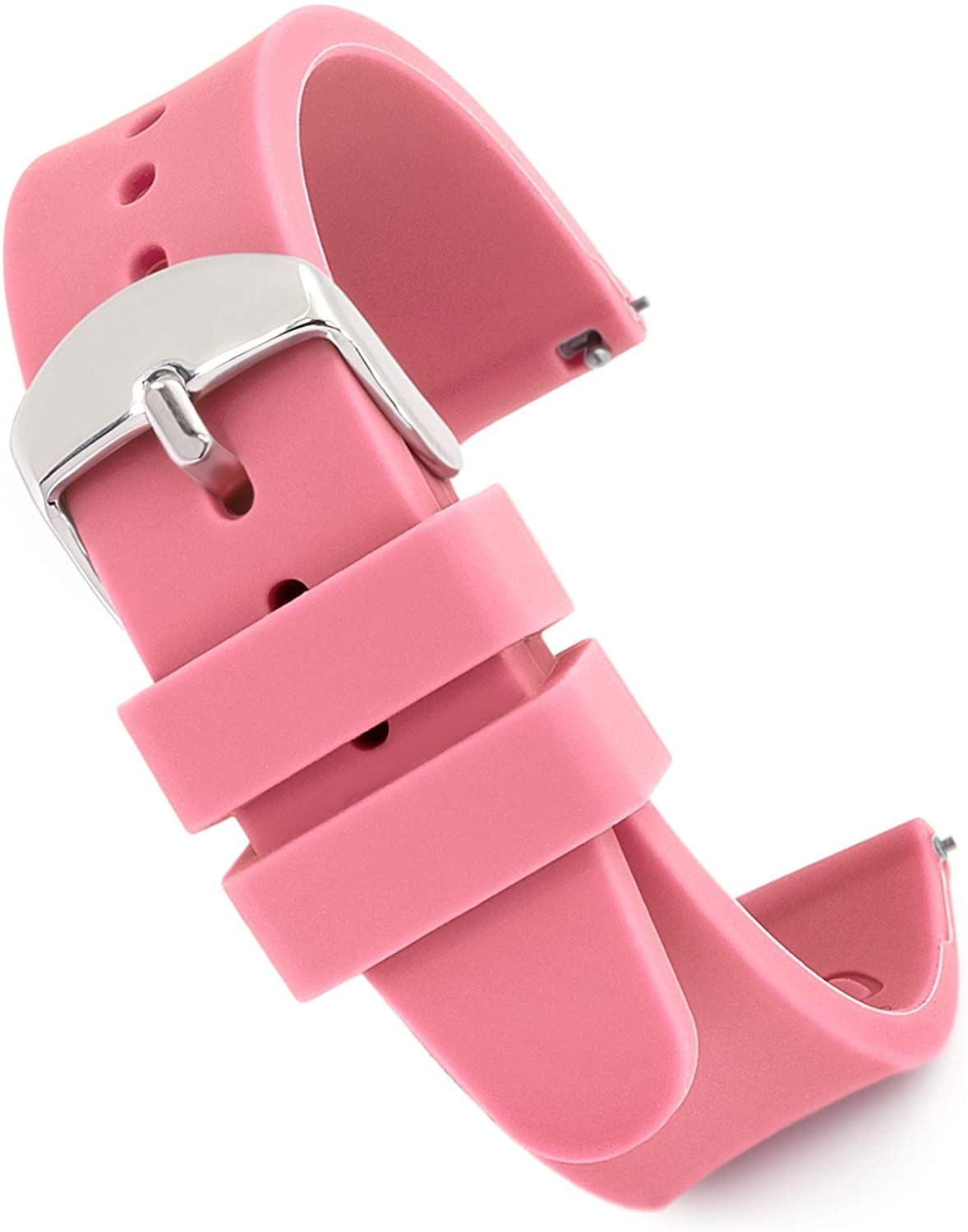 Speidel Scrub Watch Replacement Silicone Rubber Band - 18mm, 20mm, 22mm and 24mm, Multiple Colors Options