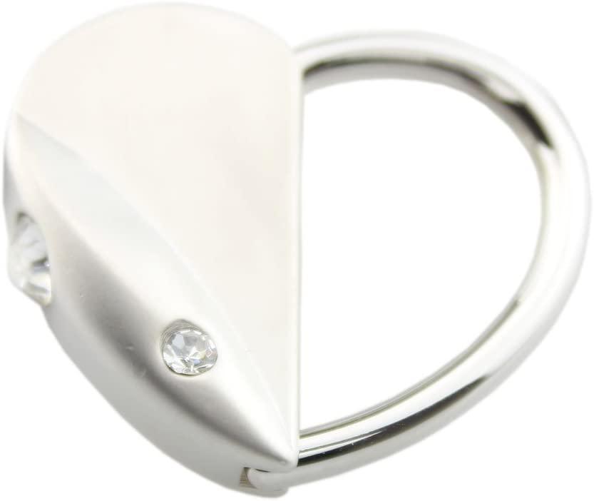 FOY-MALL Fashion Heart Rat Rhinestone Alloy Keychain Gift Charm Key Ring for Women Men J1021