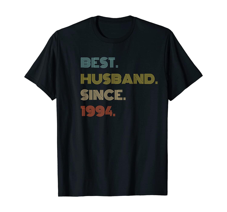 Mens 26th Wedding Anniversary Gift Best Husband Since 1994 T-Shirt