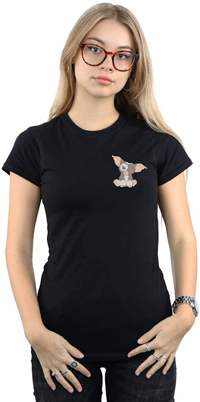 Gremlins Womens Gizmo Pocket T-Shirt Black Small