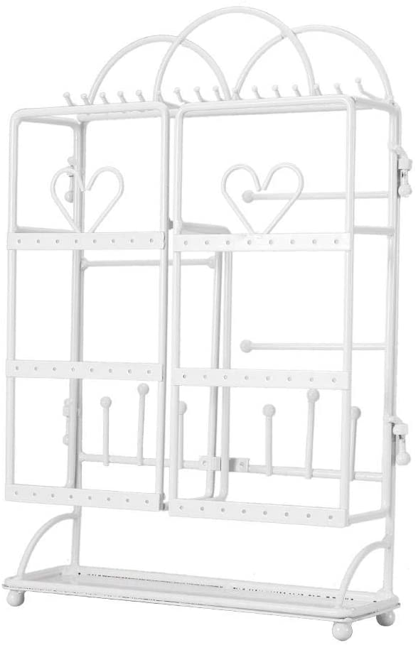 Cuque Durable Jewelry Storage Jewelry Stand Rack, Jewelry Holder, Neck Display Rack Large Capacity for Women Jewelry Stores Home Boutiques(White)