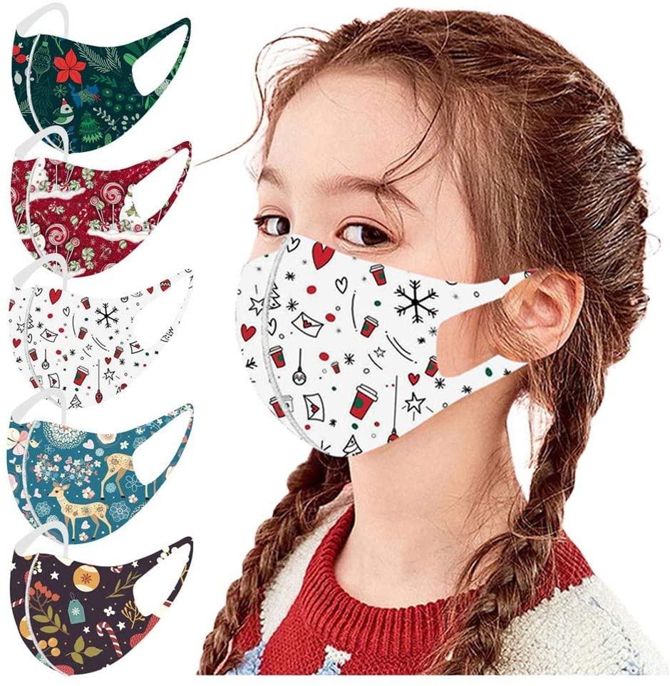Jamiacy Kids Face Shield,6pcs Face Protection Face_Mask Bandanas for Children Kids Boys and Girls,Washable Adjustable Cartoon Lovely Bandanas