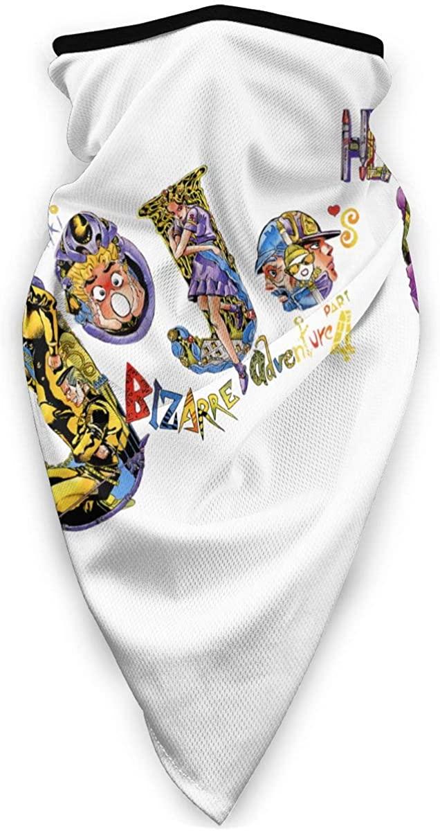 LYBZS Jojo'S Bizarre Adventure Jotaro Face Cover Bandanas Headband For Dust Outdoors Festivals Sports Gift One Size