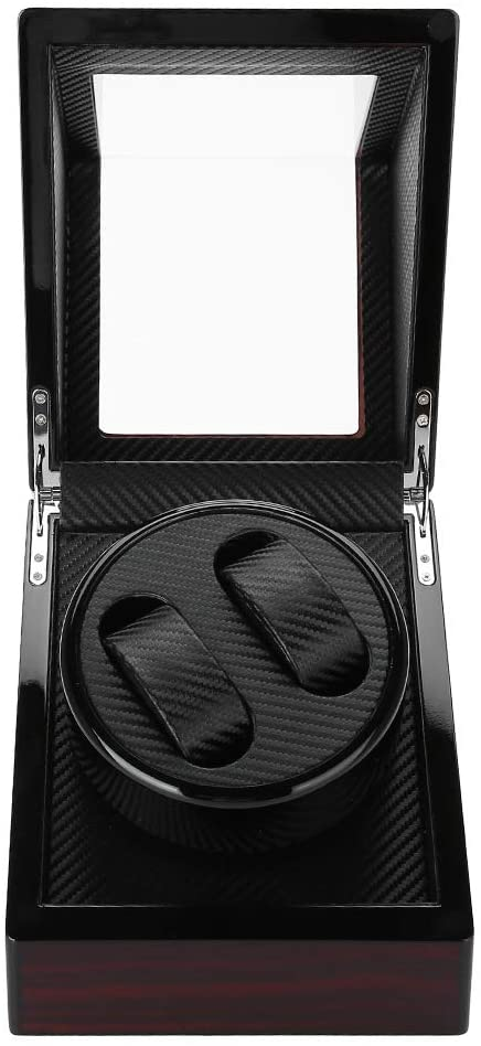 Automatic Watch Winder,Carbon Fiber Rotating Wristwatch Winder Holder with Flexible Plush Pillow Fit Lady and Man Automatic Watch (4 Type)(2#)