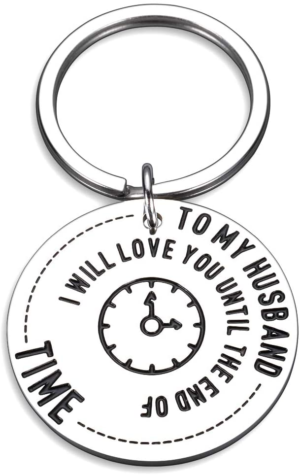 to My Husband Gift Idea Romantic Keychain for Him Men Hubby Fiancé Dad Boyfriend Bf Son from Her Women Fiancée Wife Girlfriend Gf Birthday Anniversary Valentines Xmas Engagement Wedding Christmas Day