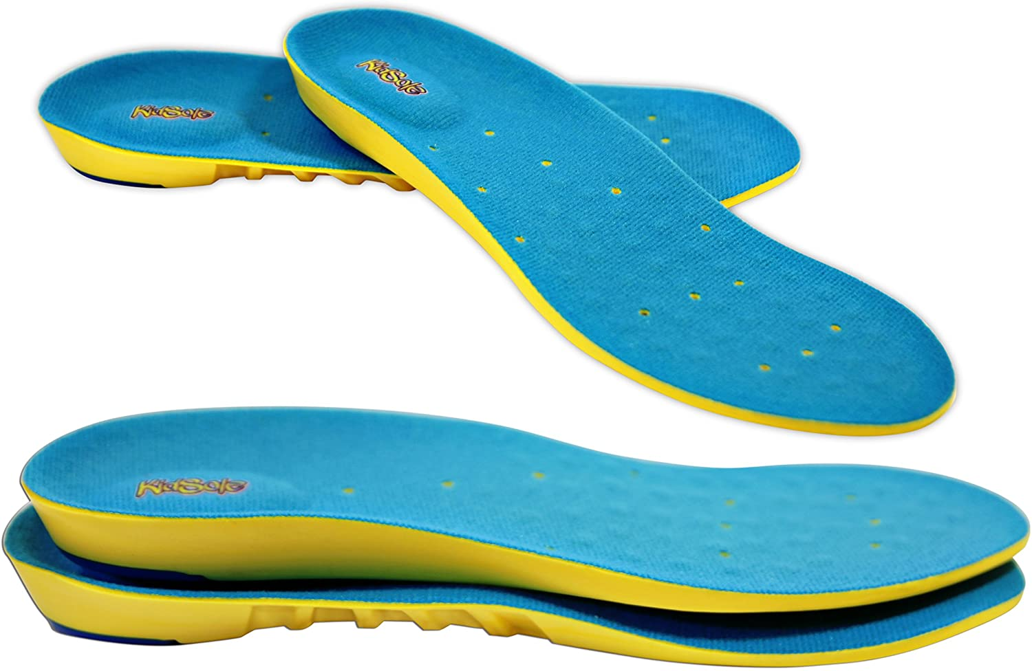 Children's Athletic Memory Foam Insoles for Arch Support and Comfort for Active Children ((26 cm) Kids Size 6.5-8.5)