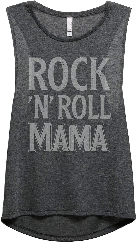 Rock and Roll Mama Women's Fashion Sleeveless Muscle Tank Top Tee