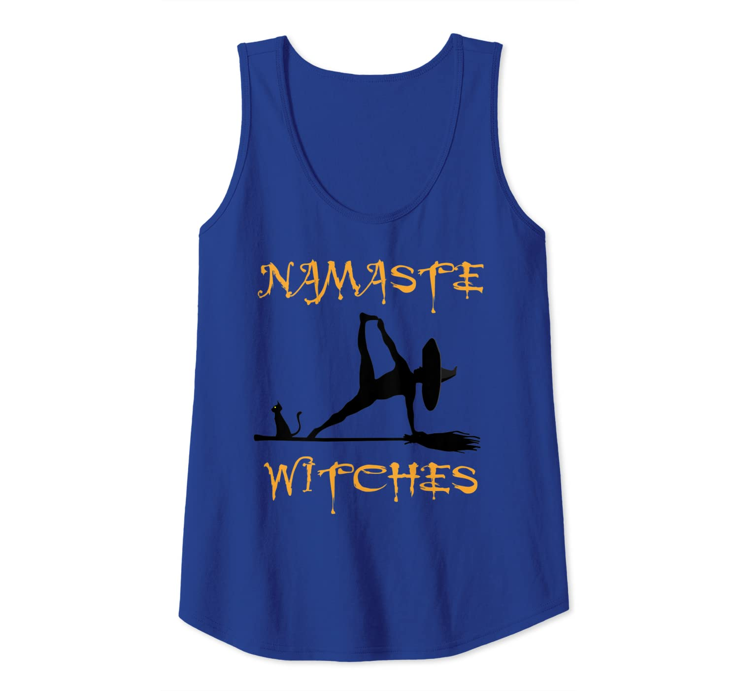 Womens Namaste Witches Shirt Cute Yoga Halloween Top for Women Tank Top