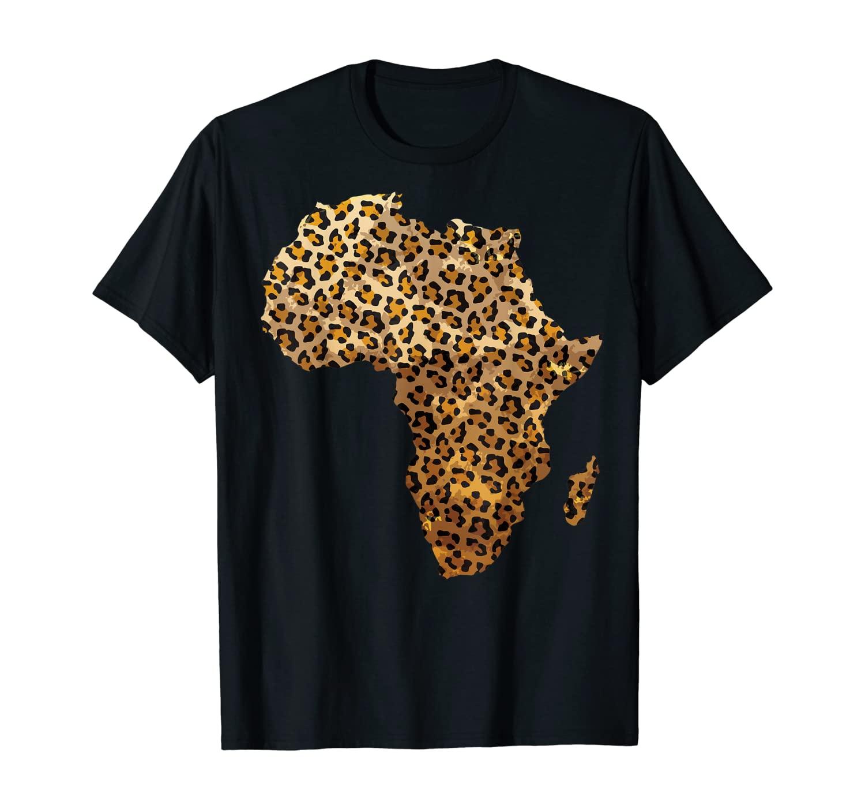 Cute Leopard Print Africa Shape | Cheetah Outline Kids Gift T-Shirt