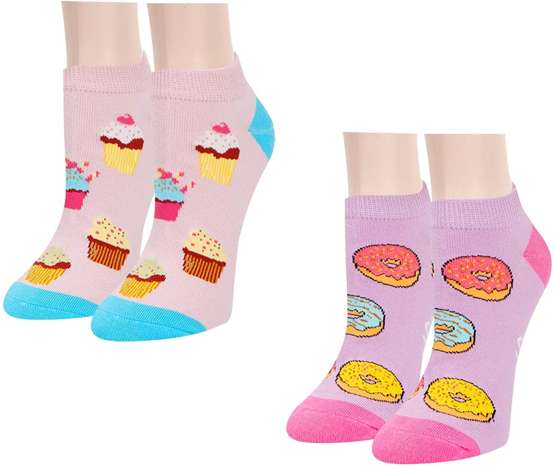 Zmart Women's 2 Pack Pineapple Avocado Socks, Novelty Food Socks Funny Gifts