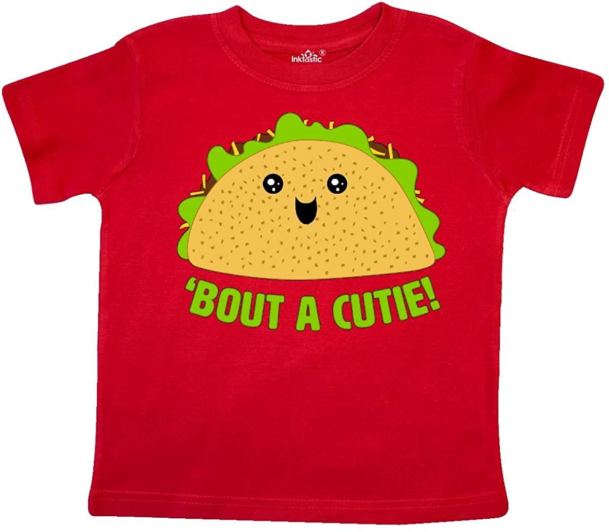 inktastic Taco Bout a Cutie Cute Taco Pun Toddler T-Shirt