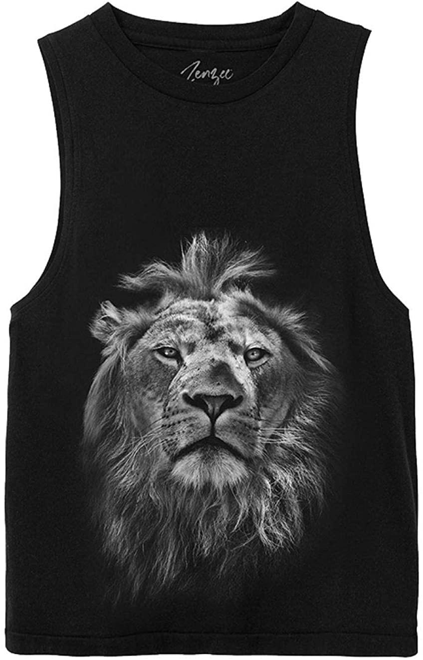 Zenzee Lion Animal Attraction Tank Top for Women