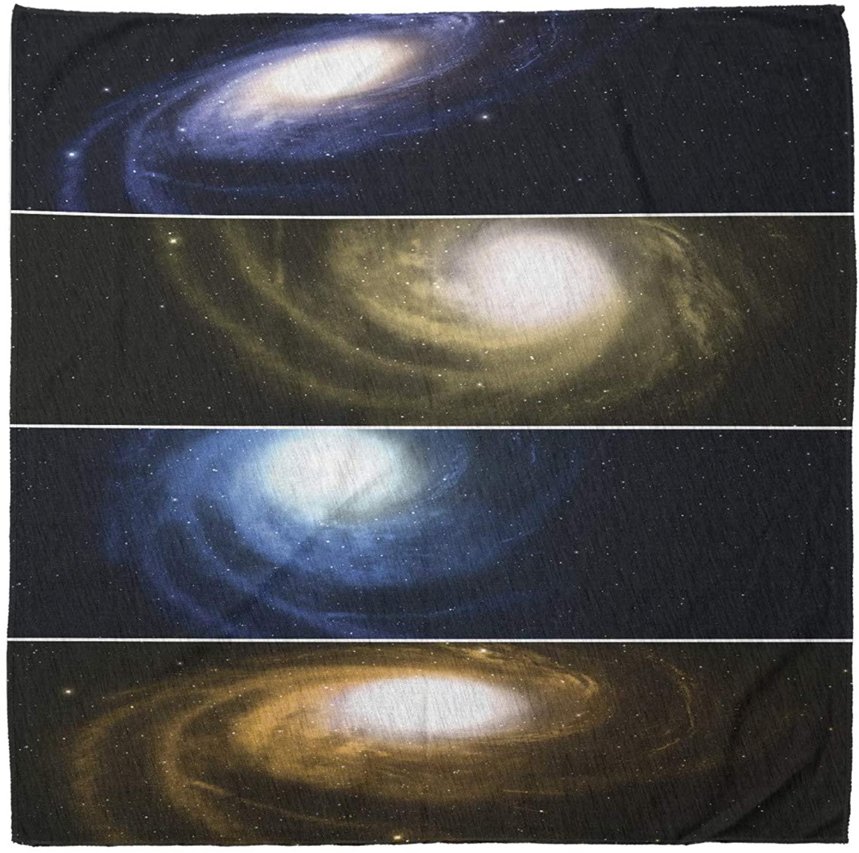 Lunarable Unisex Bandana, Nebula Spiral Galaxies Horizontal, Multicolor