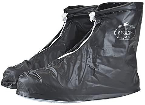 Men's Reusable Waterproof Thicken Sole Rain Overshoes Anti-slip Shoe Covers
