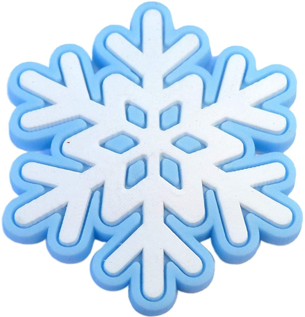 Snowflake Rubber Charm for Wristbands and Shoes