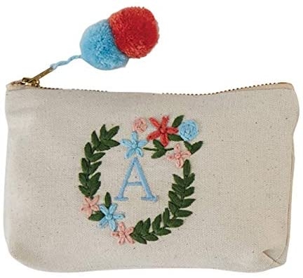 Mud Pie Initial Embroidered Pouches