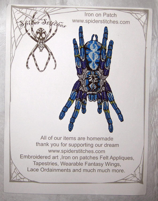 Poecilotheria Metallica Tarantula Gooty Sapphire Ornamental Tree Spider Iron on Patch