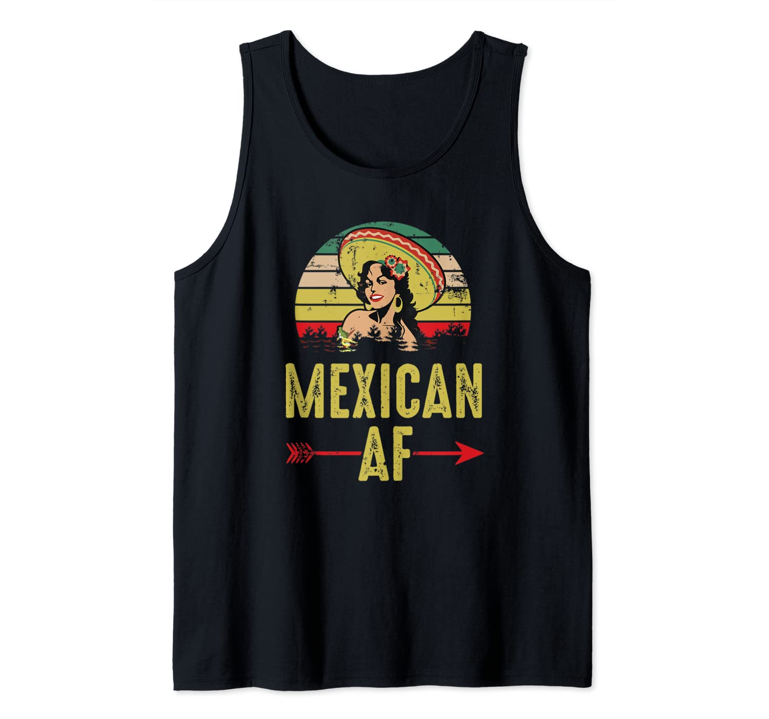 Mexican AF Vintage Retro Mexican Man Gift Tank Top