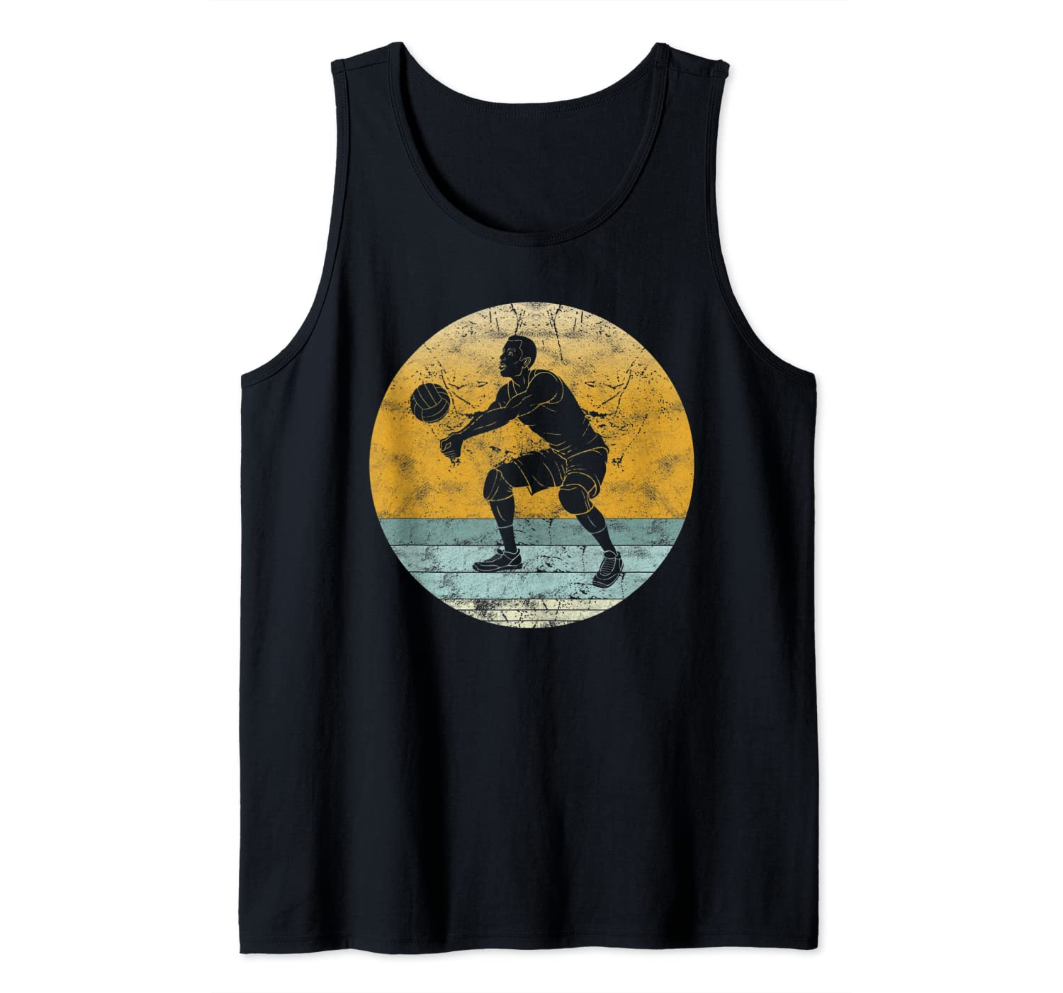 Retro Volleyball Vintage Style Sport Gift for Men & Women Tank Top