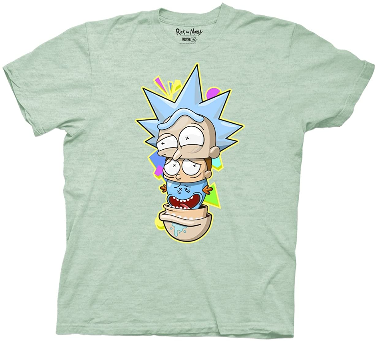 Ripple Junction Rick and Morty and Meeseeks Nesting Heads Adult T-Shirt