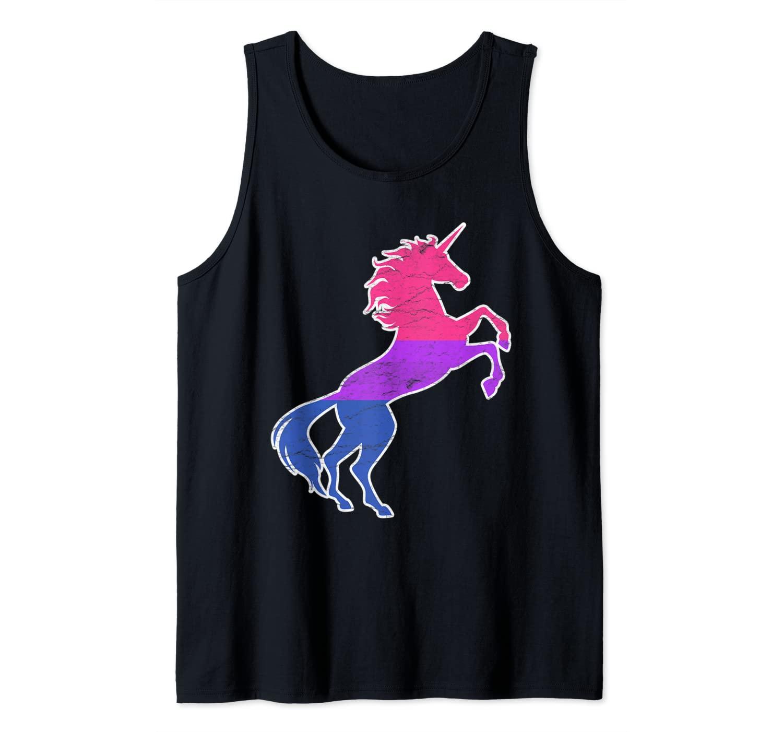 Bisexual Unicorn Flag Color Pride LGBT Equality Humor Gift Tank Top