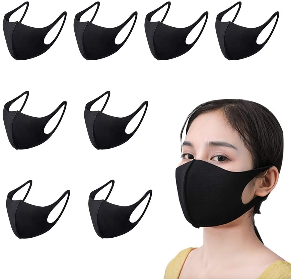 Vuudh Reusable Face Mask, Unisex Breathable Mouth Mask, 8 Pack and 45 Filters