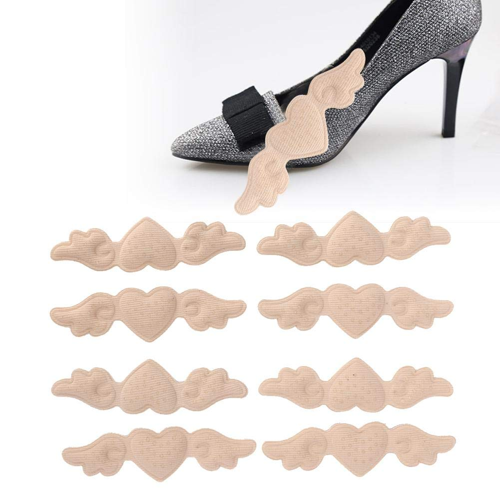 4 Pairs Heel Cushion Pads, Heel Stickers Shoe Grip Liner Heel Protectors for Women Anti-Slip Heel Grips Shoe Pads Liner Self Adhesive Insert(02)