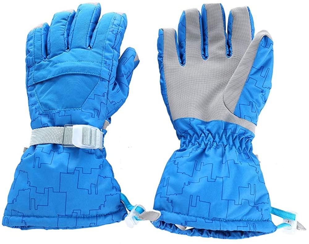 Women Ski Gloves Waterproof Snowboard 3M Thinsulate Cold Weather Warm Snow Snowmobile Gloves