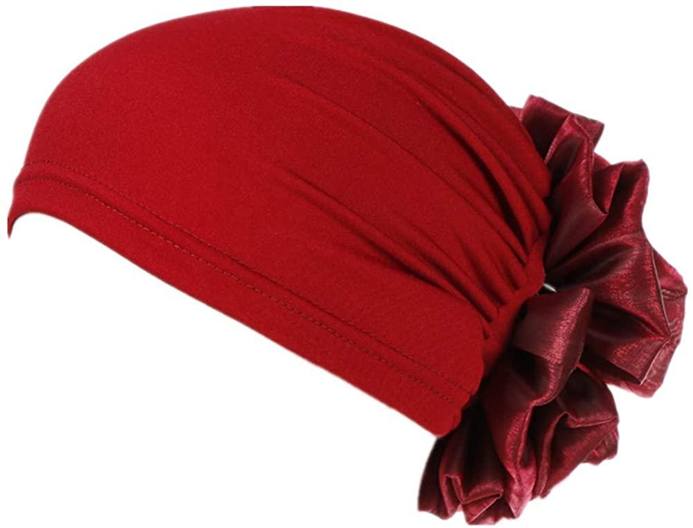 YiYi Operation Women Big Flower Turban Hat Head wrap Headwear Cancer Chemo Beanie Cap Hair Loss Cover