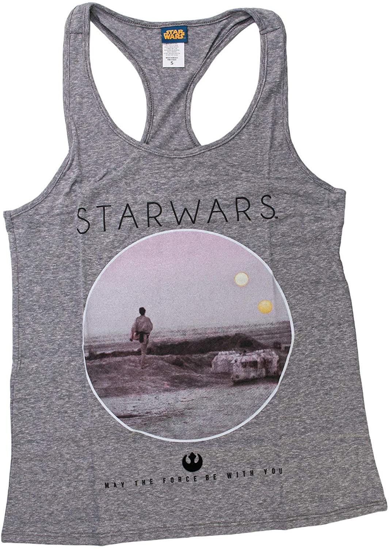 Star Wars Photoreal Circle Women's Gray Tank Top