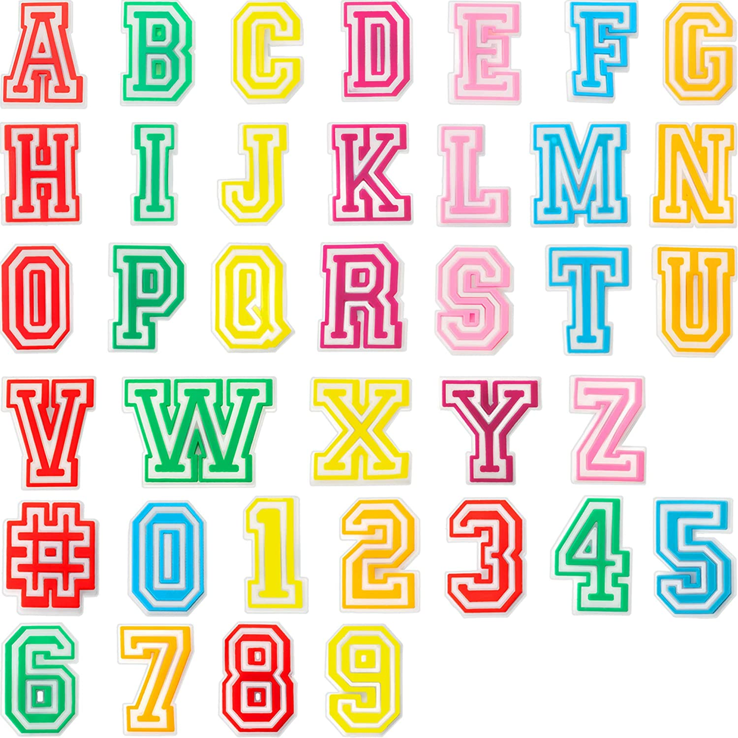 37 Pieces Number Letter Shoe Charm Fits for Clog Shoes DIY