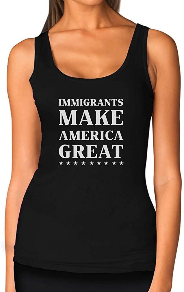 TeeStars - Immigrants Make America Great Protest Anti Trump Women Tank Top