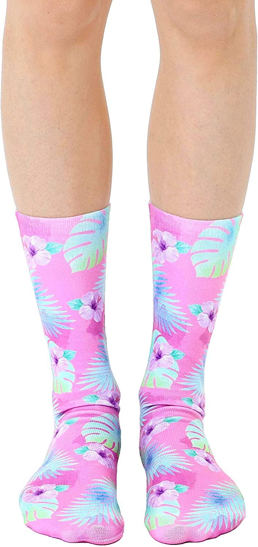 Living Royal - Pink Hibiscus Crew Socks