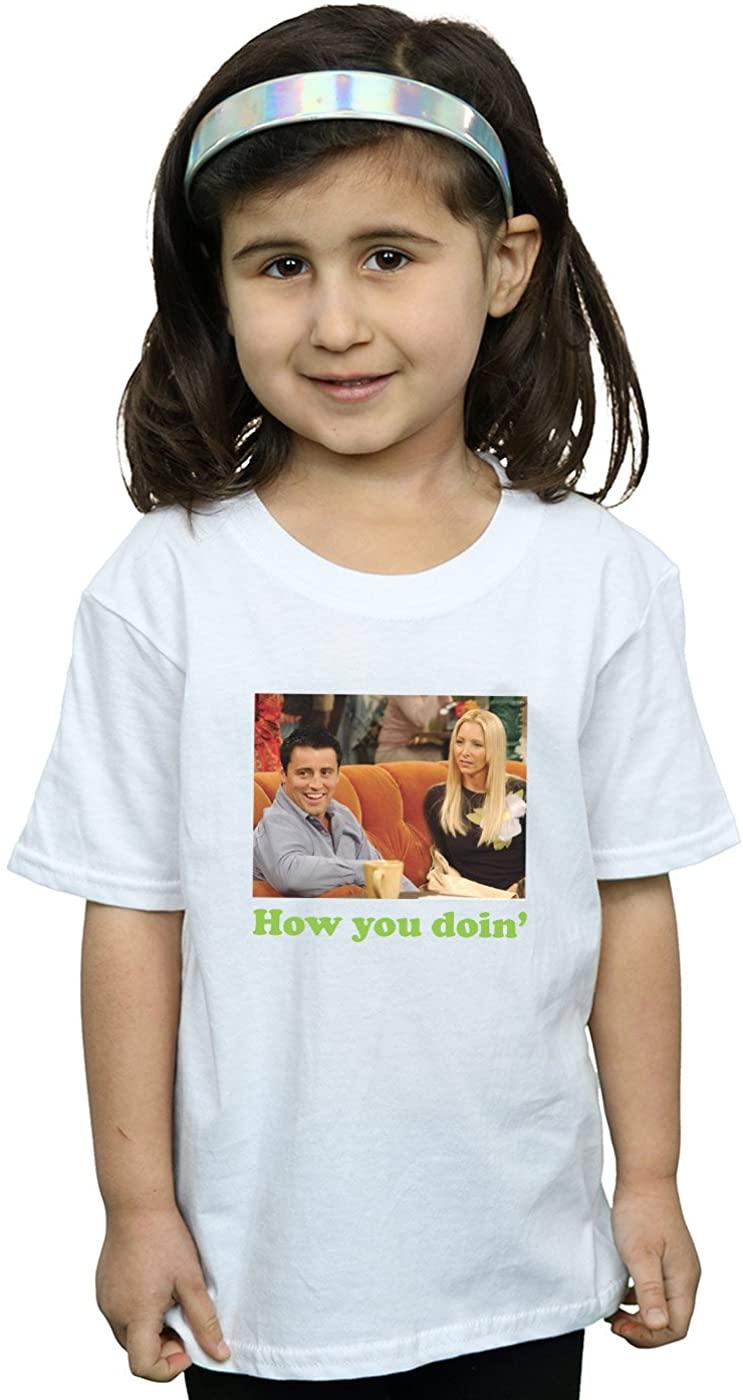 Friends Girls How You Doin T-Shirt White 7-8 Years